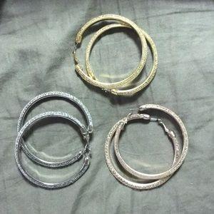 Set of 3 Hoop Earrings from Torrid